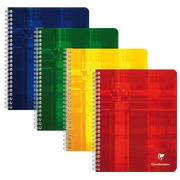 Cahier Clairefontaine reliure spirale 180 pages 16,5 x 21 cm 5 x 5 couleurs assorties