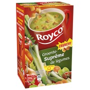 Box of 20 bags Royco Minute Soup vegetables with crusts