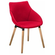 Fauteuil Anet - tissu rouge