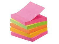 Pack de 4 + 1 notes Post-it néon assortis Super Sticky