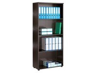 Start Plus, high shelf cabinet, black