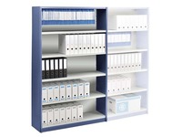 Versatile shelving, basic element, W 120 cm, with back panel
