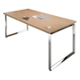 Shiny, straight desk, 180 cm
