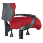 Pair of fixed armrests for chair Dhark
